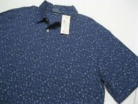 Men's NEW Ralph Lauren Polo Blue Floral Short Sleeve Shirt size L