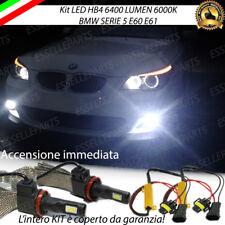 KIT FULL LED BMW SERIE 5 E60 E61 LAMPADE HB4 FENDINEBBIA CANBUS 6400 LUMEN 6000K