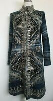 J Jill Womens Wool Blend Long Button Down Cardigan Sweater Blue Size S Petite