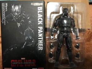 Used S.H.Figuarts Civil War Captain America Black Panther Action Figuarts F/S
