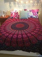Twin Indian Mandala Tapestry Bedspread Hippie Bohemian Wall Hanging Ethnic Throw