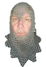 HALLOWEEN Hand Made Chain Mail Coif Very Heavy