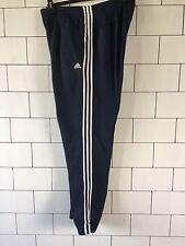 Da Uomo ha rovinato Vintage con Adidas Blu Scuro Tuta Bottoms Pantaloni Sportivi Pantaloni Della Tuta