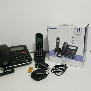 Panasonic KX-TGB850 B  Corded Phone/Cordless Phone Combo OPEN BOX  d75