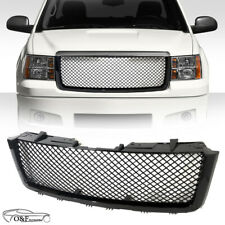 For 07 13 GMC Sierra 1500 Front Upper Mesh Grill Gloss Black Replacement Grille