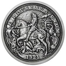 DURER'S KNIGHT 1 oz Silver Antique finish round Hobo Nickel  - Serial  Number