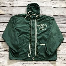 Vintage Michigan State University Champion Windbreaker Hooded Jacket MSU Large