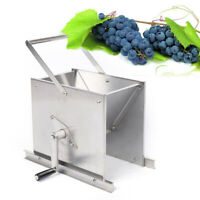 NEW Manual 304 Stainless Steel Fruit Grape Crusher Grinder for Juice Wine Cider