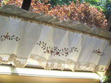 Again @ Beautiful Hand Crochet Lace Flower Embroidery Cotton Beige Curtain Trim