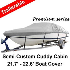 21.7-22.6ft 6.61-6.89m Trailerable Bowrider Cuddy Half Cabin Cab Boat Cover G