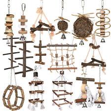 TRIXIE Holz Spielzeug für Vögel Tau  Naturspielzeug Vögelspielzeug viele Muster