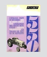 FIAT 550 Schlepper Traktor Ersatzteilliste Orginal 1969