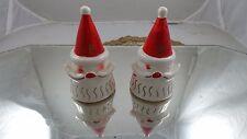 Vtg Christmas Santa Cone Shape Salt & Pepper Shakers Capri Creation Philadelphia