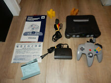 NTSC-JAP N64: Charcoal Grey Nintendo 64 Console with Controller JAPAN