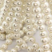 Fashion White Glass Pearl Round Loose Spacers Beads Jewelry Finding 6/8/10mm
