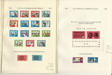 Germany DDR Stamp Collection on 12 Pages, Mint Sets 1964-76, DKZ