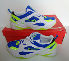Nike Mens New White M2K TEKNO White Blue Trainers Shoes New RRP £90 UK Size 12