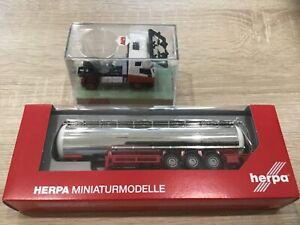 HERPA HO 1/87 CAMION CITERNE REMORQUE + tracteur IVECO