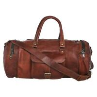 Men's Quality Soft Leather large vintage duffle travel gym weekend overnight bag
