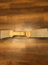 """Banana Republic Flax & Leather Belt Made in England 28 Width 2"""""""
