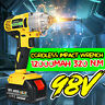 98VF 320NM 12000mAh Cordless Electric Impact Wrench Drill Torque Screwdriver US
