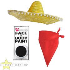 Speedy Mexican Mouse Set Cartoon Character Fancy Dress Sombrero + Bandana