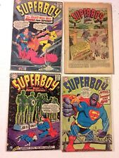 SILVER AGE SUPERBOY 1960'S  4 CT. COMICS LOT G/VG COND.# 132,136 142, GIANT #10