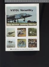 (192) Brochure aviation Aircraft Hawker Siddeley Harrier V/STOL Versatility