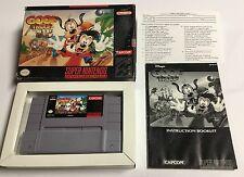 Disney's Goof Troop (Super Nintendo SNES, 1993) Complete in Box CIB
