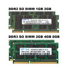 Samsung RAM 1GB 2GB 4 GB 8 GB DDR2 DDR3 5300 6400 10600 12800 Laptop Memory Lot