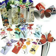 10x Creative Butterfly Bookmark  Cartoon Book Mark Paper Clip Office School RS