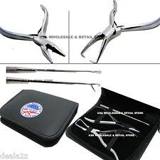 3 Piece Hair Extension Beading Pliers Tool Kit CASE USA