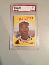 1959 TOPPS HANK AARON #380 BASEBALL CARD (PSA GRADED GOOD 2) 6403