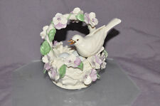 Lenox 2005 Chickadee Dove Bird in Nest Musical box Sankyo