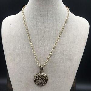 Barse Zinnia Pendant Necklace- Bronze- NWT