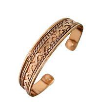 Mens Womens Bio Magnetic Pure Copper Bracelet-Bangle-Cuff Arthritis Pain Relief