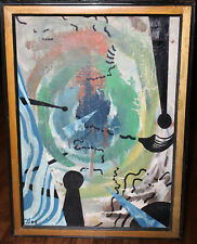 Jackson Pollock Style Vintage ABSTRACT MID-CENTURY Unsighned OIL/ENAMEL Canvas