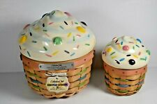 LONGABERGER COLLECTOR'S CLUB CUPCAKE BASKETS LARGE AND SMALL