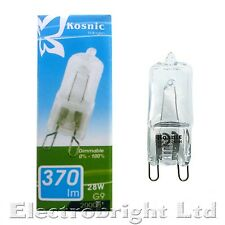 6 x KOSNIC G9 28w=40w DIMMABLE ENERGY SAVING bulbs clear 28 Watt Safety fused