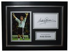 Andy Goram Signed A4 Framed Autograph Photo Display Rangers Football AFTAL COA