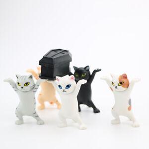 Stand Animal Statue Desktop Toy Cartoon Carrying Coffin Cat Bookshelf Home D*AU