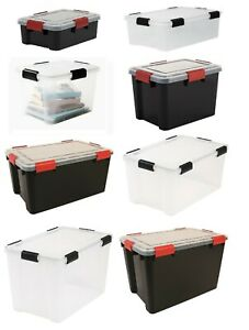 Weathertight Airtight Plastic Damp Area Dry Storage Boxes - 5 Sizes Available!