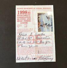 Illinois Hunting License Vintage