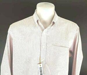 LL BEAN Mens Thick Cotton Pale Pink EVENING DRESS SHIRT - 2XL - TALL - 2XLT