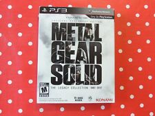 Metal Gear Solid the Legacy Collection 1987 - 2012 US Playstation 3 PS3 USK18