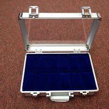 Superbe écran de montre en aluminium cas / box-détient 12 montres
