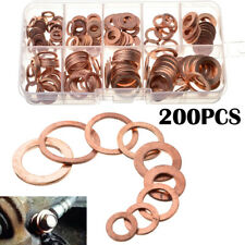 200x Drain Bolt Crush Copper Washer Solid Gasket Flat Ring Seal 9 Popular Sizes
