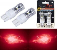 LED Light 30W 7443 Red Two Bulbs Brake Stop Tail Parking Replacement Upgrade OE