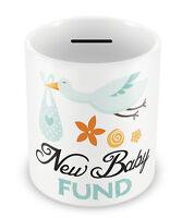 New Baby Fund - Money box Piggy Bank Savings Gift Idea newborn penny pot #55