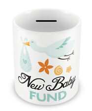 New Baby Fund - Money box Piggy Bank Savings Gift Idea newborn penny pot #55